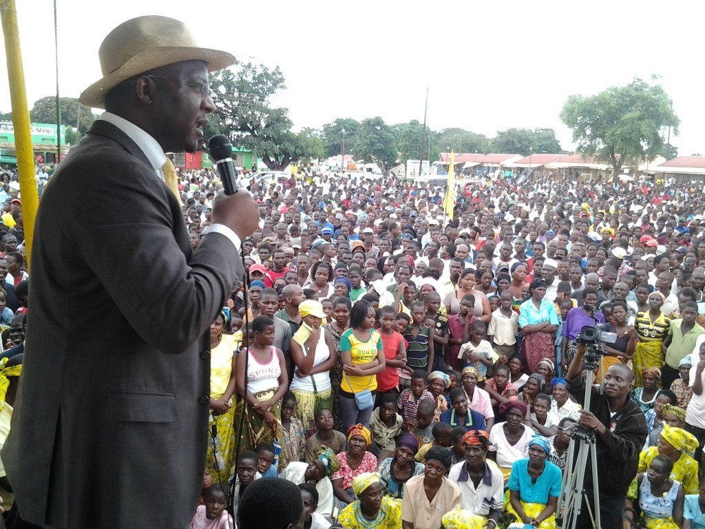 Atupele addressing crowds in Balaka
