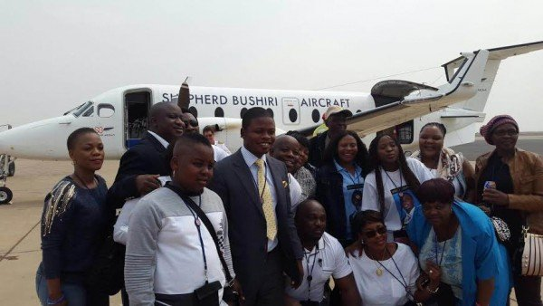 Bushiri welcomed at the airport