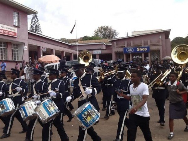 Police band led the celebrations