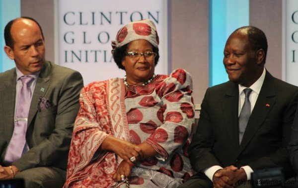 President Joyce Banda in attendance at the Clinton Global Initiative save Africa's Elephants Event held in New York -pic by Lisa Vintulla