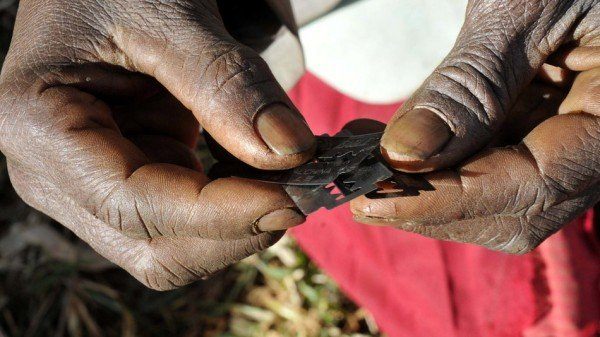 Sharp razors used for Female Genital Mutilation
