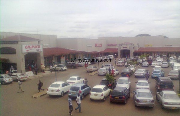 The heart of Lilongwe city shopping centre, Lilongwe Shopping Mall.