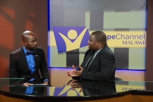 Live on Hope TV: Minister of Information Nankhumwa (r)