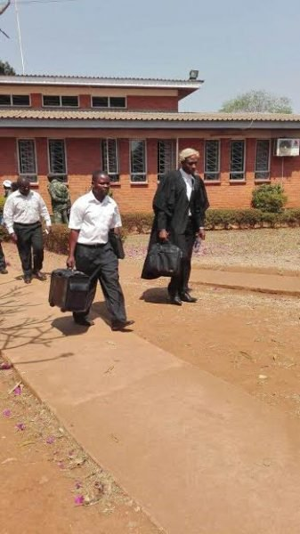 Lawyer Lusungu Gondwe leaving court