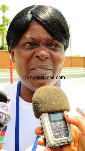 Malawi Queens coach Mary Waya....Photo Jeromy Kadewere
