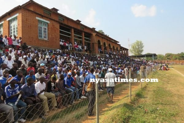 Spectators during the match at Zomba Community Center Ground ...Photo Jeromy Kadewere.