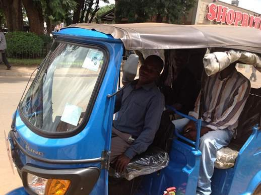 Tricycle that has become a threat to taxi operators
