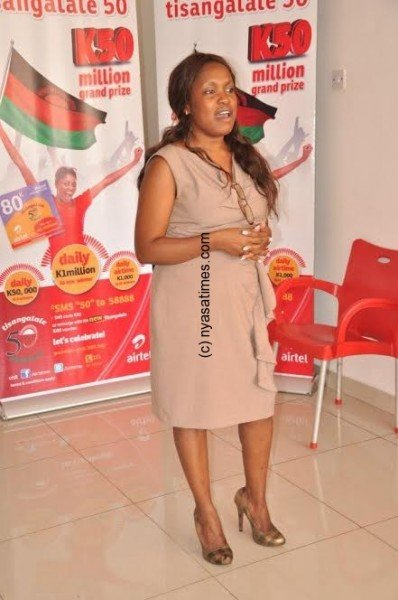 Isabel Kachinjika captured during the draw in Lilongwe today.