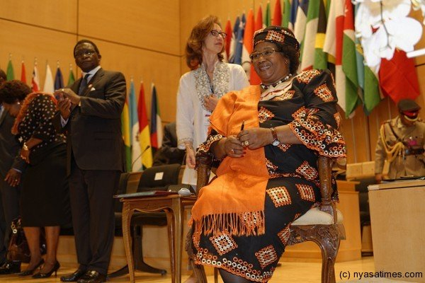 President Banda after addressing ILO conference