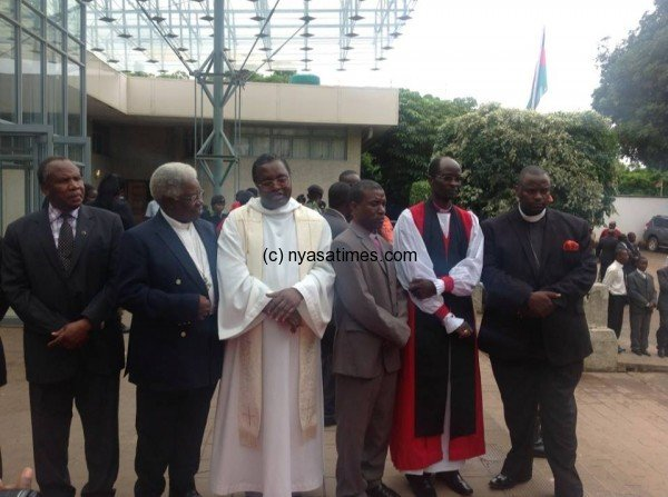 The officiating clergy at the National prayers